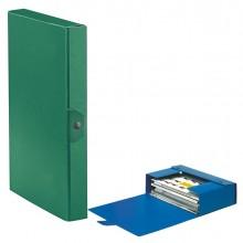 Scatola progetto C24 25x35cm dorso 4 verde ESSELTE (conf. 5 )