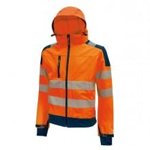 Giacca Softshell alta visibilitA' Miky arancio fluo Taglia L U-Power