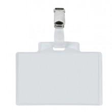 10 Portanome Pass 3E 9,5x6cm c/clip in metallo Sei Rota