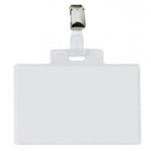 10 Portanome Pass 4E 11x7cm c/clip in metallo Sei Rota