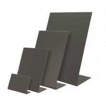 Set 3 lavagnette a L nere A6-15,5x10,5x5cm Securit
