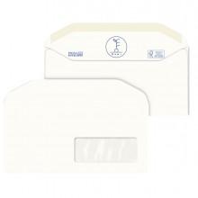 500 Buste bianche in carta riciclata 110X230mm con Finestra 100GR Kami Pigna