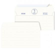 500 Buste bianche carta riciclata strip 110X230mm S/Finestra 100GR Kami Pigna