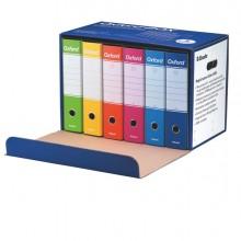 Conf 6 Registratori OXFORD G85 color MIX dorso 8 cm f.to protocollo ESSELTE