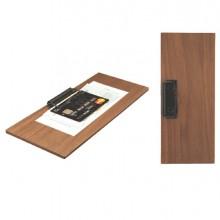 Porta Conto in legno 24x10cm con fermaglio Walnut