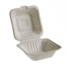 50 Vaschette Hamburger box 15x15cm Take away BIO Leone