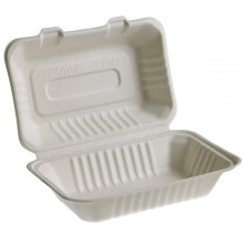 50 Vaschette Sandwich box 23x15cm Take away BIO Leone