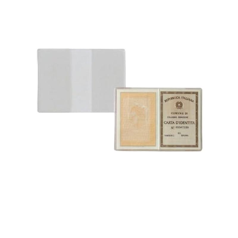 100 Buste Porta Carta Identita' 15,5X11Cm