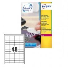 Poliestere Adesivo L6113 Bianco Antim. 20Fg A4 45,7X21,2Mm (48Et/Fg) Laser Avery