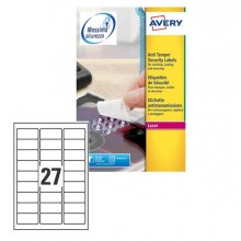 Poliestere Adesivo L6114 Bianco Antim. 20Fg A4 63,5X29,6Mm (27Et/Fg) Laser Avery