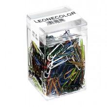 Barattolo 500 Fermagli Colori Metal N.2 Mm26 Leone Color