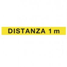 """Striscia adesiva da terra in PVC 120x15cm """"DISTANZA 1 m"""""""