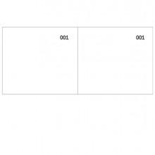 Blocco scontrino 2 sezioni 100copie num. bianco 5,8X13cm DU160000010 DU (Conf. 50)