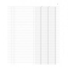 Registro inventari a 3 colonne 96pag.num.31x24,5cm DU135100000 DU (Conf. 10)