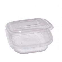 Pack 50 contenitori in PP con coperchio incernierato 15,5x15,5cm H3,7cm Cuki