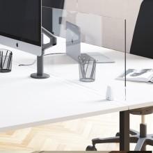 Schermo protettivo da scrivania TIMY H61xL80cm conganci per fissaggio