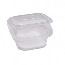 Pack 50 contenitori in PP con coperchio incernierato 12x12cm Cuki