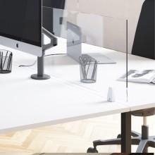 Schermo protettivo da scrivania TIMY H61xL120cm con ganci per fissaggio