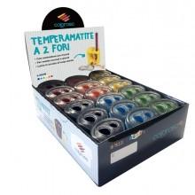 Display 18 temperamatite a 2 fori colori assortiti RiPlast