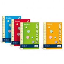 Ricambi Forati A4 80Gr 100Fg 5Mm Soft Colors 5 Colori Favini