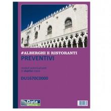 Blocco Preventivi/Ordini banchetti 50/50 copie autoric. DU1670C0000 Data Ufficio (Conf.5)