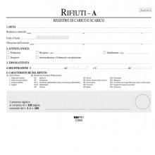 Registro Carico/Scarico Rifiuti Detentori Mod.A 22,5X29,7 100Pag. E2868
