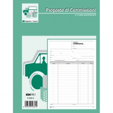Blocco Copia Commissioni 29,7X21Cm 50Fg 2 Copie Autoric. E5236A Edipro