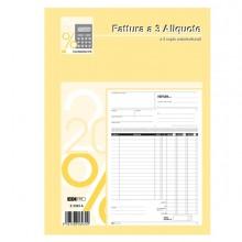 Blocco Fatture 3 Aliquote Iva 2Copie 50Fogli Autoric. 29,7X21 E5303A