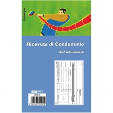 Blocco Ricevute Condominio 50/50 Fogli Autoric. 9,9X17 E5540C