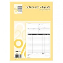 Blocco Fatture 1 Aliquota Iva 33/33/33 Fogli Autoric. 29,7X21 E5284A