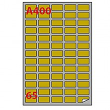 Etichetta Adesiva A/400 Oro 100Fg A4 Laser 38,1X21,2Mm (65Et/Fg) Markin