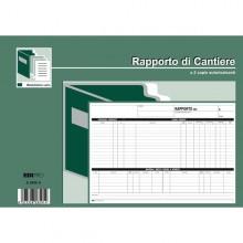 Blocco Rapporto Di Cantiere 50/50 Fogli Autoric. 21X30 E5859A