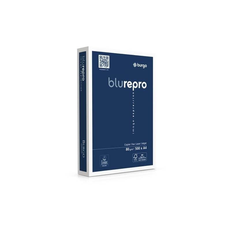 Carta per fotocopie A4 Burgo Repro Blu A4 - Premium Quality 80 gr bianca Risma 500 fogli (Pallet 240 risme)