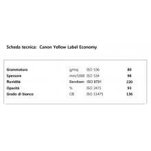 Carta per fotocopie A4 Yellow Label Economy Canon 80 gr bianco risma da 500 fogli (Pallet 240 risme)