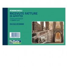Blocco ricevute/fatture affitto 50/50copie autor. 10x16,8cm DU1612C0000 (Conf.5)