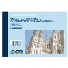 Blocco ricevute pagamento attività sportive 50/50 copie autor. DU162580000 (Conf.5)