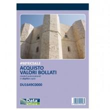Blocco distinta acquisto carte valori 50/50copie autor. DU1649C0000 (Conf.10)