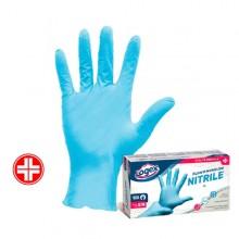 Scatola 100 guanti in nitrile non talcato tg. M/L azzurro uso medicale