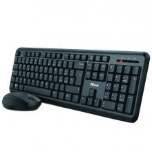 Set tastiera wireless + mouse wireless ultrasilenziosa TM-350 - Trust