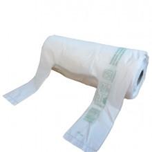 Rotolo da 200 Shopper bianchi MINI 13µ 22x50CM 6+6cm Mater-Bi (Conf.12)