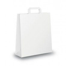Blister 25 Shoppers 18X8X25Cm Bianco Neutro Piattina