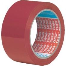 NASTRO ADESIVO PVC 66MTX50MM ROSSO 4204 TESA (conf. 6 )