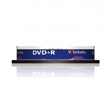 Scatola 10 Dvd+R Spind Matt 16X 4.7Gb Silver Dlp