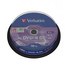 Scatola 10 Dvd+R Dual Layer 8X 8.5Gb 240Min. Serigrafato Spindle