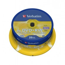 Scatola 25 Dvd+Rw Spindle 4X 4.7Gb 120Min. Serigrafato