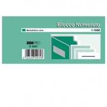 Set 10 Bl. Da 100 Numeri (Blocco Numerato 1-1000) 6X13 E5407 (conf.5)