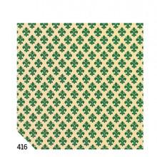 Rotolo Cartarivesto 49X300Cm Giglio Verde Adesivo Rextaco
