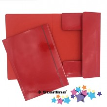Cartella con elastico 25x34cm Rosso Queen Starline (conf.10)
