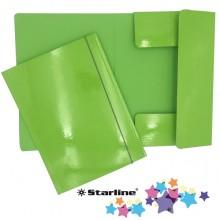 Cartella con elastico 25x34cm Verde prato Queen Starline (conf.10)