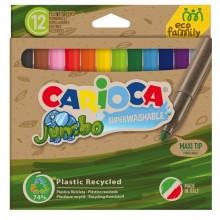 Scatola 12 pennarelli Joy Jumbo Eco Family lavabili colori assortiti Carioca